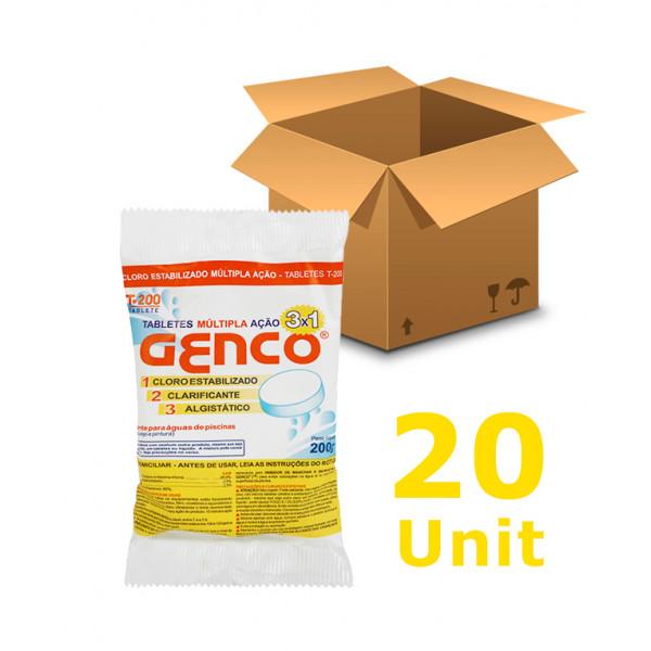 20 unidades Cloro Tablete - Genco - 3 em 1