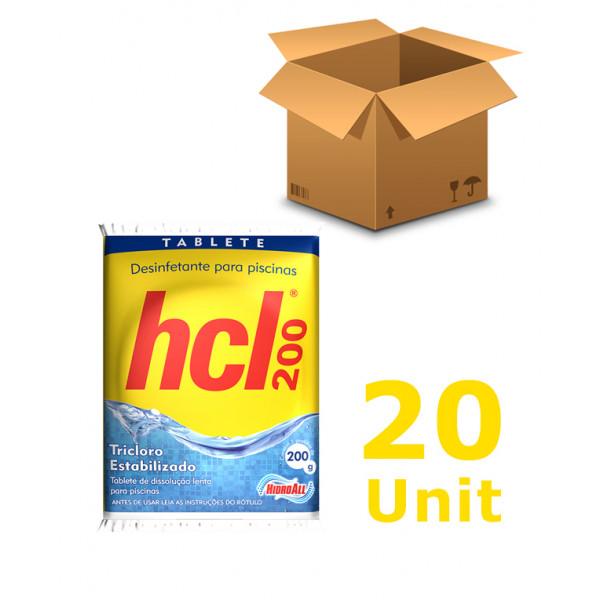 20 unidades Cloro Tablete - Hidroall - 200
