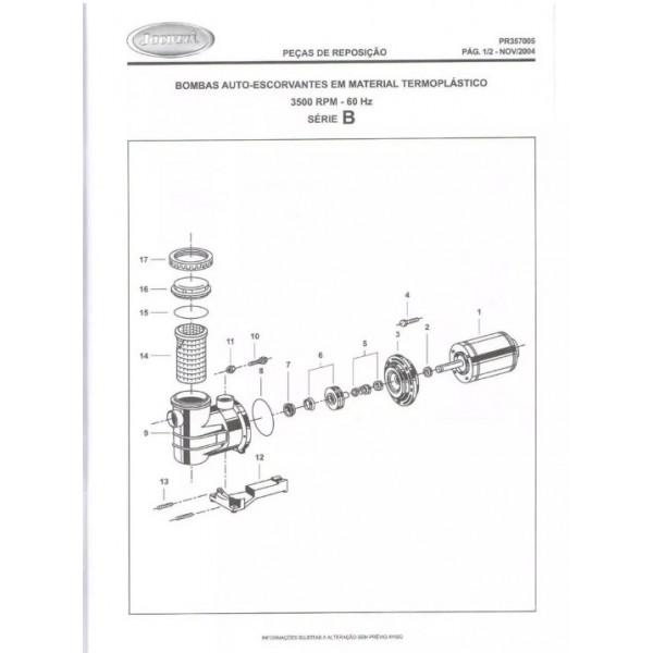 Rotor para Bomba 3B 3 CV Jacuzzi