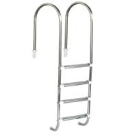 """Escada para piscinas Marinheiro 1 1/2"""" - 4 Degraus em Inox - Sodramar"""