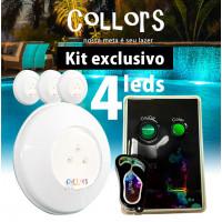 Kit Collors BLUE ABS 50  4led + 1 caixa de comando