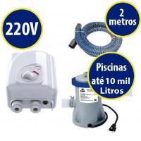 kit Aquecedor cardal 4kw + bomba/filtro p/ piscinas de até 10.000 Litros