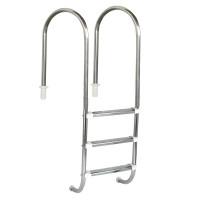 """Escada para piscinas Marinheiro 1 1/2"""" - 3 Degraus em Inox - Sodramar"""