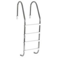 Escada para piscinas Tradicional - Sodramar - 4 Degraus Anatômicos em ABS