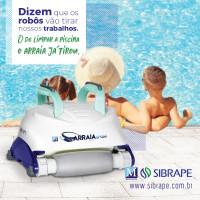 Robô automático para limpeza de piscina Arraia Sibrape