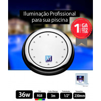 Led para piscina 36w RGB 230mm Marol Piscinas